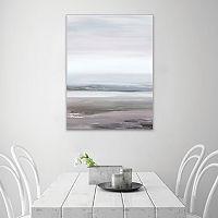 Artissimo Designs Neutral Seascape I Canvas Wall Art