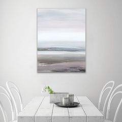 Artissimo Designs Neutral Seascape I Canvas Wall Art