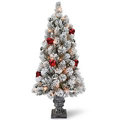 National Tree Company 4-ft. Pre-Lit Snowy Bristle Pine Artificial Christmas Tree