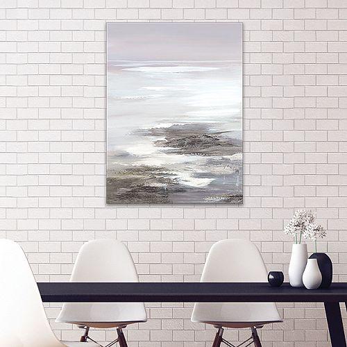 Artissimo Designs Neutral Seascape II Canvas Wall Art