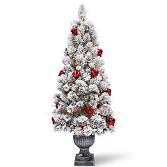 National Tree Company 5-ft. Pre-Lit Snowy Bristle Pine Indoor / Outdoor Artificial Christmas Tree