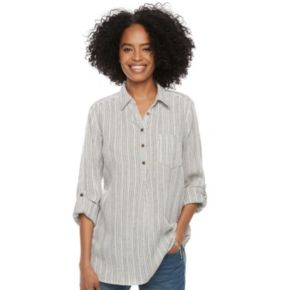 Women's SONOMA Goods for Life? Button Printed Shirt