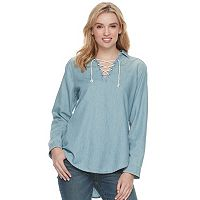 Women's SONOMA Goods for Life™ Lace-Up Shirt