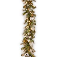 National Tree Company 9-ft. Pre-Lit Glittery Pine Artificial Christmas Garland