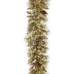 National Tree Company 9-ft. Pre-Lit Glittery Bristle Pine Artificial Christmas Garland