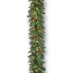 National Tree Company 9-ft. Pre-Lit Garwood Spruce Artificial Christmas Garland