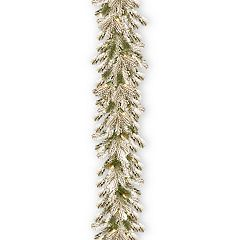 National Tree Company 9-ft. Pre-Lit Snowy Sheffield Spruce Artificial Christmas Garland