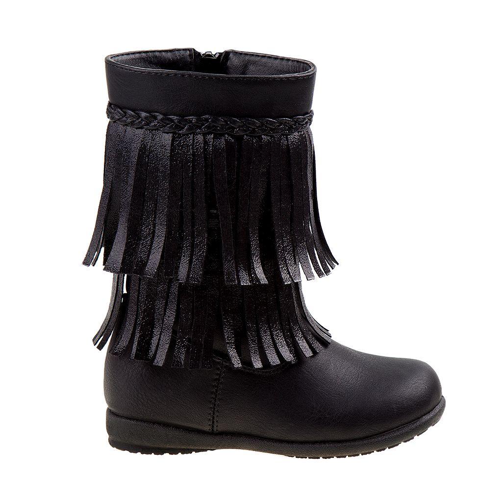 Rugged Bear Toddler Girls' Fringe Boots