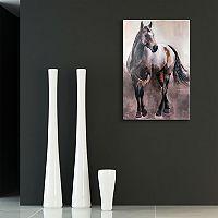 Artissimo Designs Copper & Nickel Horse Canvas Wall Art