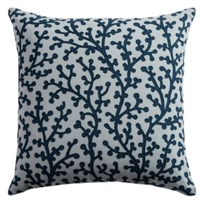 Rizzy Home Coral Printed Embroidered Throw Pillow