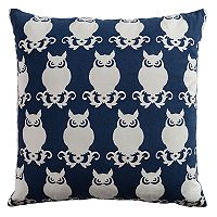 Rizzy Home Owl Printed Embroidered Throw Pillow