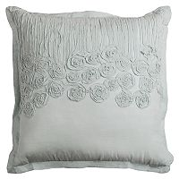 Rizzy Home Flower & Flourish Twist Ruched Throw Pillow