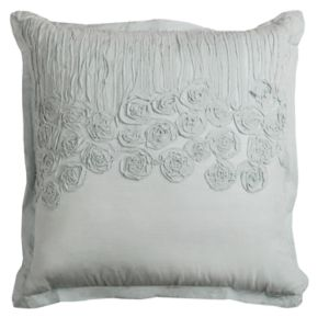 Rizzy Home Flower & Flourish Twist Ruched Throw Pillow