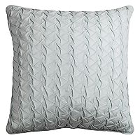 Rizzy Home Textured Solid Voile Smocked Throw Pillow
