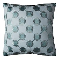 Rizzy Home Geometric Applique Embroidered Throw Pillow