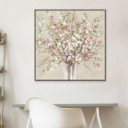 Artissimo Designs Peach Blossom Canvas Wall Art