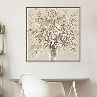 Artissimo Designs Peach Blossom Canvas Wall Art