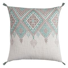 Rizzy Home Tribal Tassels Embroidered Throw Pillow