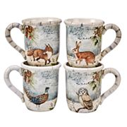 Certified International Winter Lodge 4 pc Mug Set