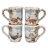 Certified International Winter Lodge 4-pc. Mug Set