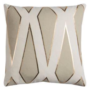 Rizzy Home Rachel Kate Geometric II Foil Printed Throw Pillow