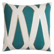 Rizzy Home Rachel Kate Geometric II Foil Printed Throw Pillow