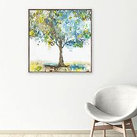 Artissimo Designs Majestic Blue Canvas Wall Art
