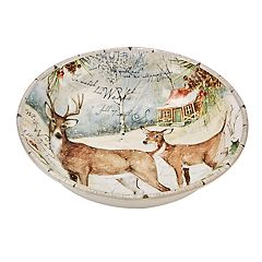 Certified International Winter Lodge Deer Serving / Pasta Bowl