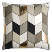 Rizzy Home Rachel Kate Geometric III Foil Printed Throw Pillow