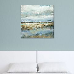 Artissimo Designs Coastal Marsh Canvas Wall Art