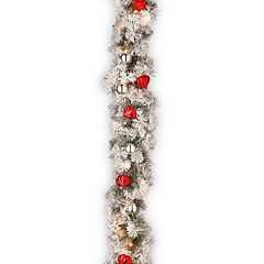 National Tree Company 9-ft. Pre-lit Snowy Bristle Pine Artificial Christmas Garland