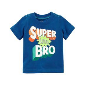 """Baby Boy Carter's """"Super Little Bro"""" Graphic Tee"""