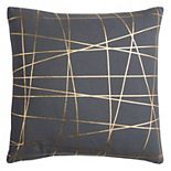 Rizzy Home Rachel Kate Abstract Foil Printed Throw Pillow