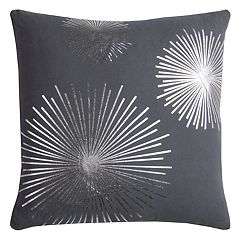 Rizzy Home Rachel Kate Starburst Foil Printed Throw Pillow