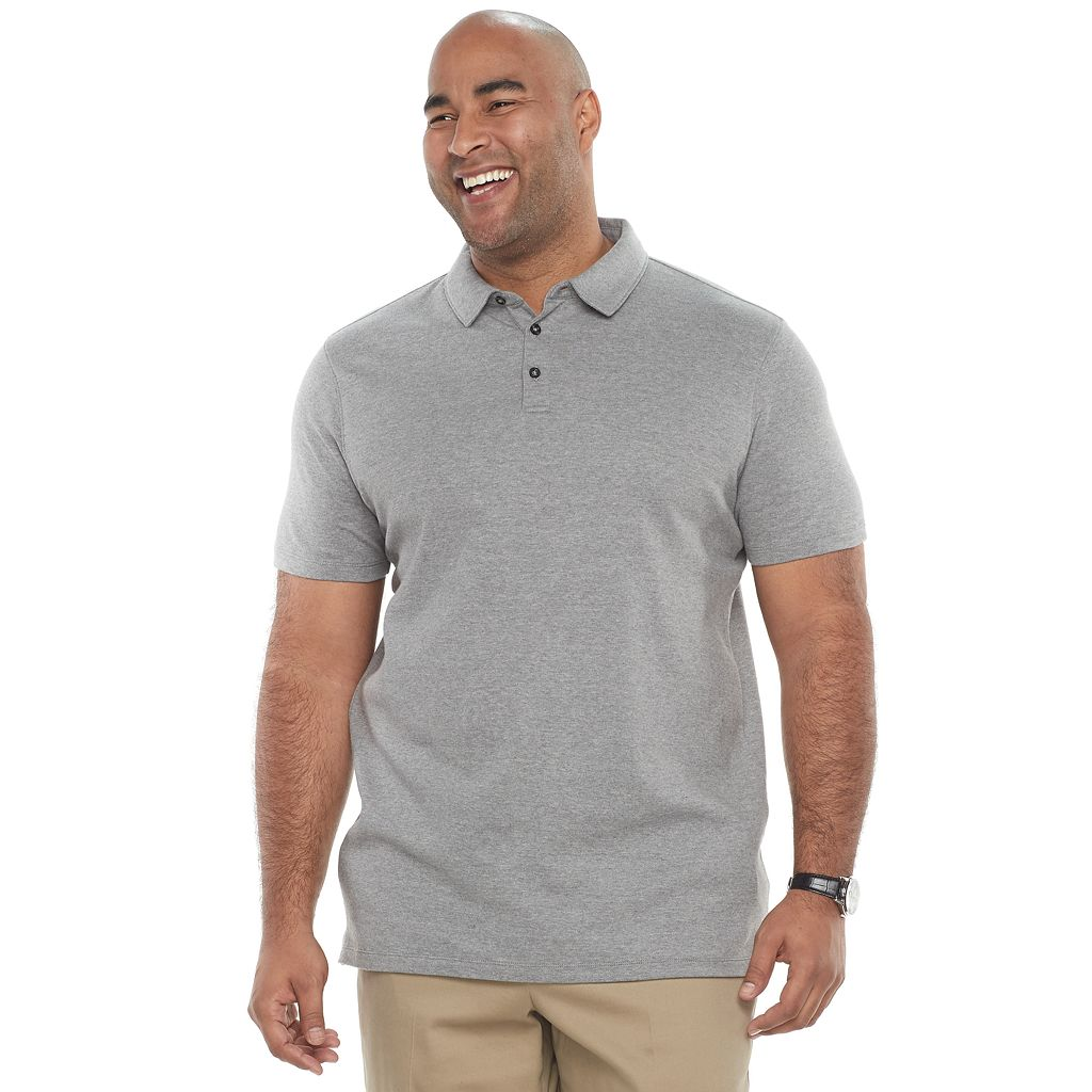 Big & Tall Apt. 9® Core Interlock Heather Polo Shirt