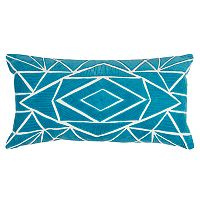 Rizzy Home Geometric Velvet Applique Oblong Throw Pillow