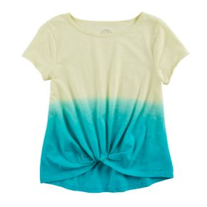 Girls 7-16 SO® Knot Front Tee