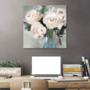 Artissimo Designs Pale Pink Bouquet II Canvas Wall Art