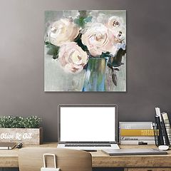 Artissimo Designs Pale Pink Bouquet II Canvas Wall Art