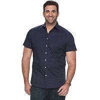 Big & Tall Apt. 9® Premier Flex Modern-Fit Slubbed Woven Stretch Button-Down Shirt