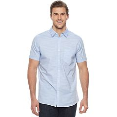 Big & Tall Apt. 9® Premier Flex Modern-Fit Slubbed Woven Stretch Button-Down Shirt