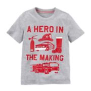 "Baby Boy Carter's ""A Hero In The Making"" Fire Truck Graphic Tee"