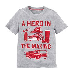 Baby Boy Carter's 'A Hero In The Making' Fire Truck Graphic Tee