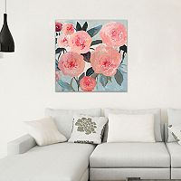 Artissimo Designs Coral Floral Canvas Wall Art