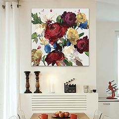 Artissimo Designs Autumn Floral Canvas Wall Art