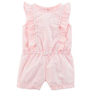 Baby Girl Carter's Ruffle Stripe Romper