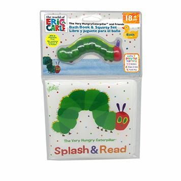 Eric Carle The Very Hungry Caterpillar Bath Book & Squirty Set