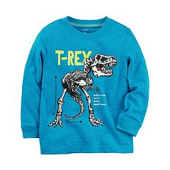 Baby Boy Carter's Dinosaur 'T-Rex' Skeleton Long Sleeve Graphic Tee