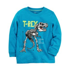 "Baby Boy Carter's Dinosaur ""T-Rex"" Skeleton Long Sleeve Graphic Tee"