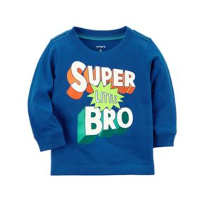 "Baby Boy Carter's ""Super Little Bro"" Mock Layer Graphic Tee"